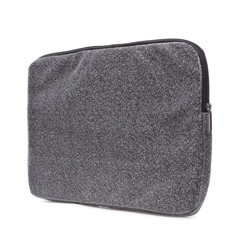 Laptophoes zilver met glitters