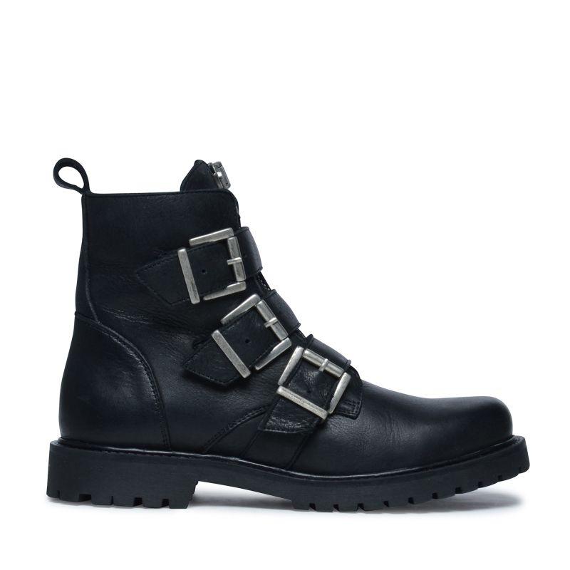 Zwarte biker boots