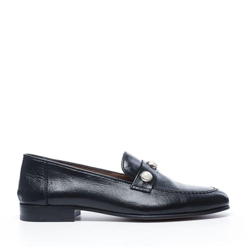 Schwarze Loafer mit Perlen und Fransen (37,38,39,40,41)