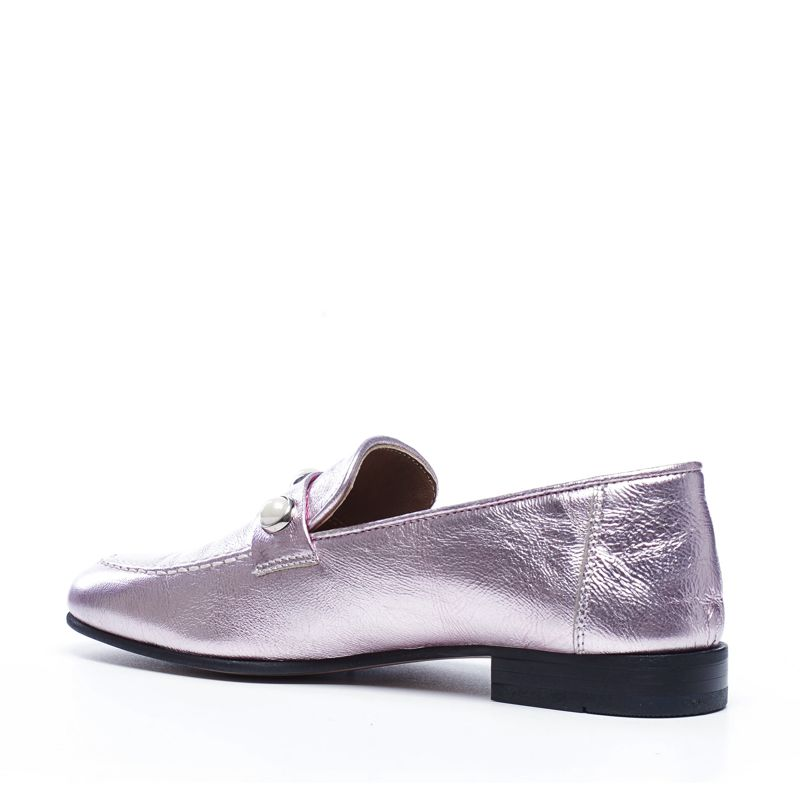 Metallic loafers roze
