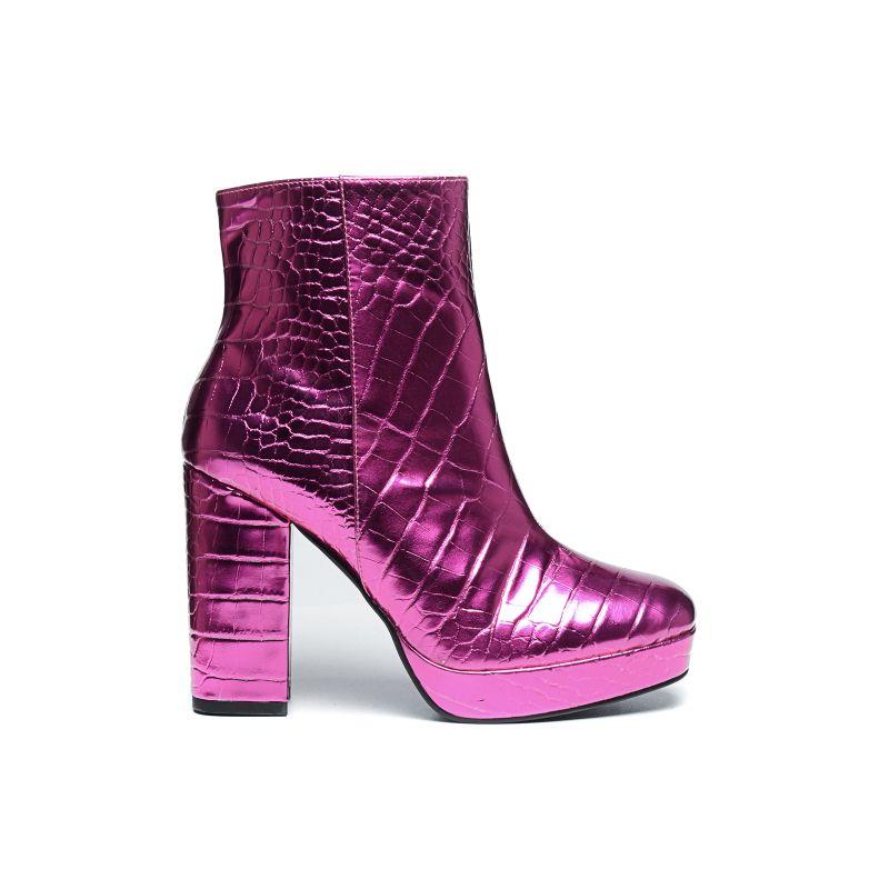 Roze enkellaarsjes met hak