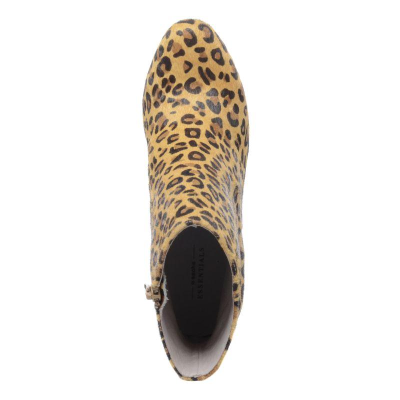 Enkellaarsjes met hak luipaard print