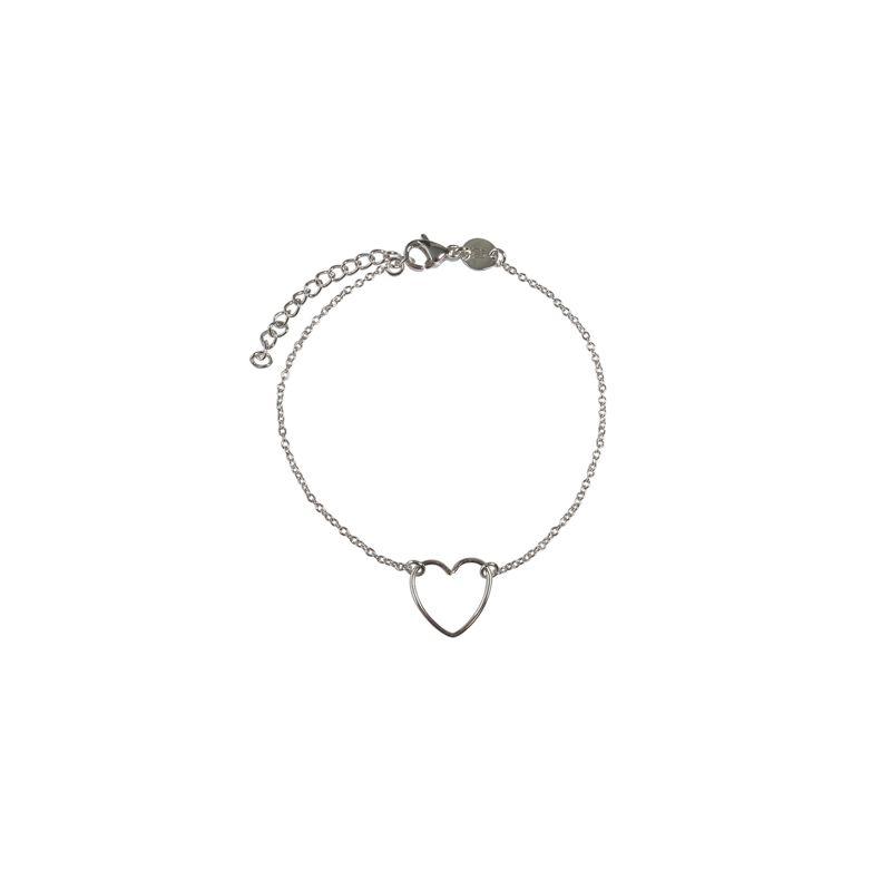 LUZ - bracelet avec cœur fait main argent