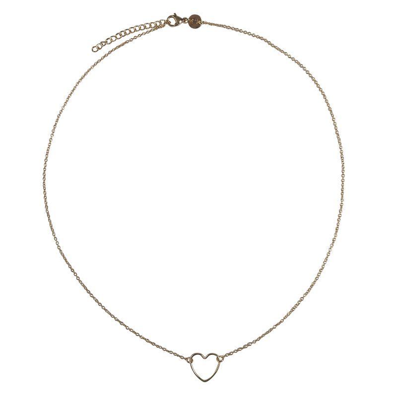 LUZ - handmade heart ketting goud