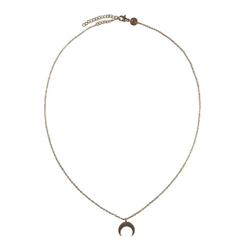 LUZ - crescent moon ketting gold
