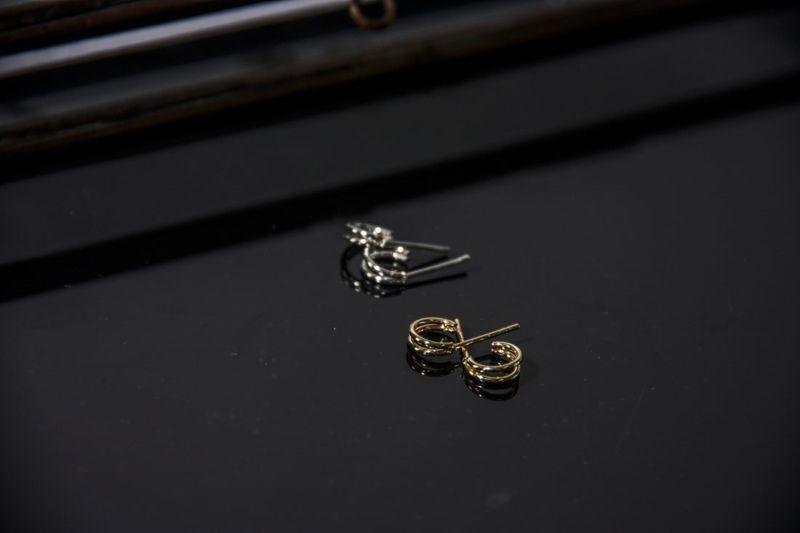 LUZ - double rings zilver