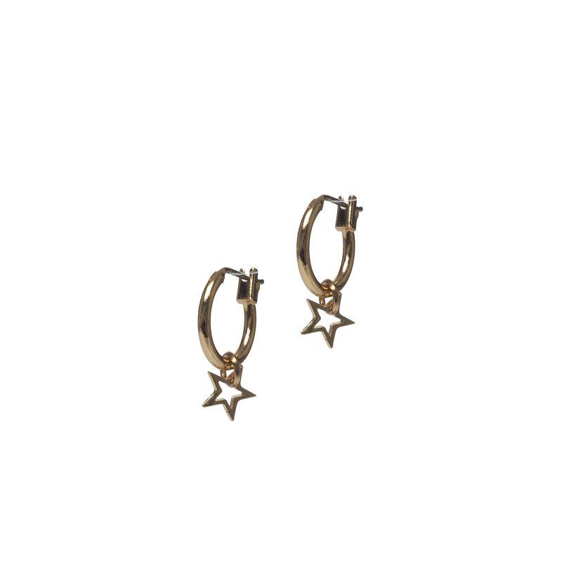 LUZ - open star oorbellen goud