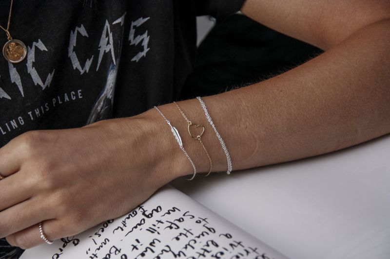 LUZ – Armband mit doppelter Kette gold