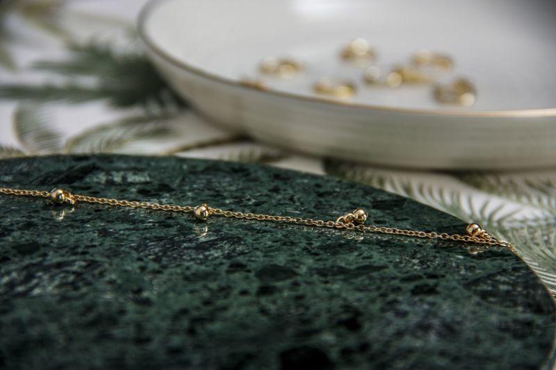 LUZ - little orbs ketting goud