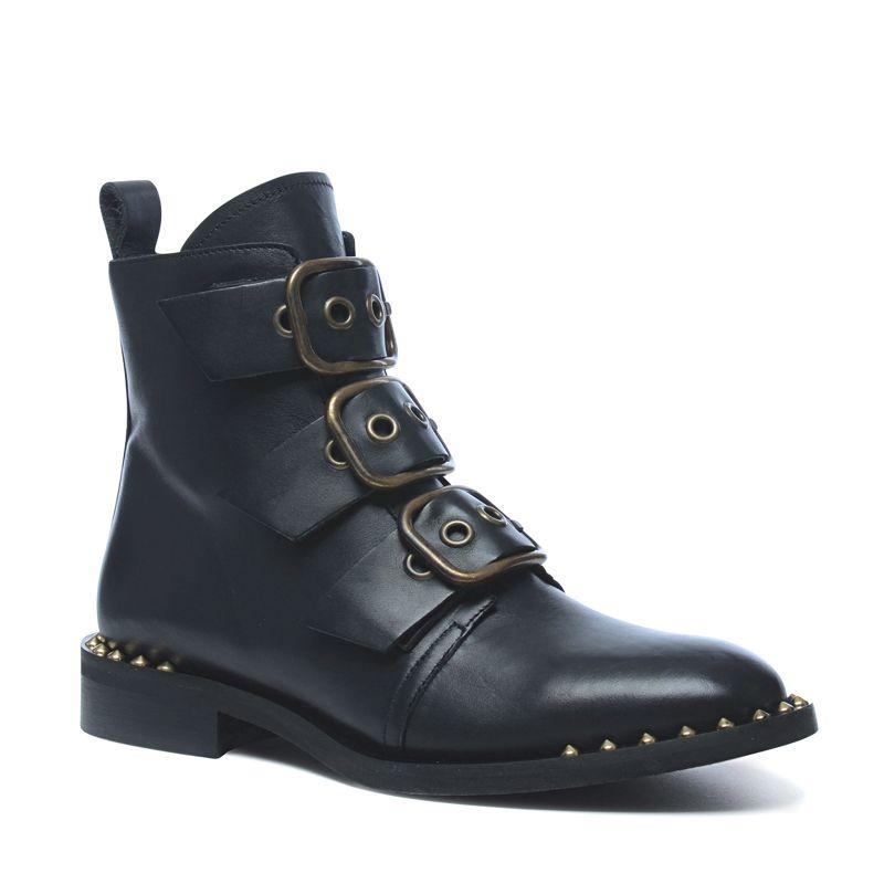 Zwarte boots met gouden details