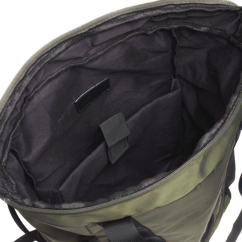 Donkergroene sporty rugzak met laptopvak (16 inch)