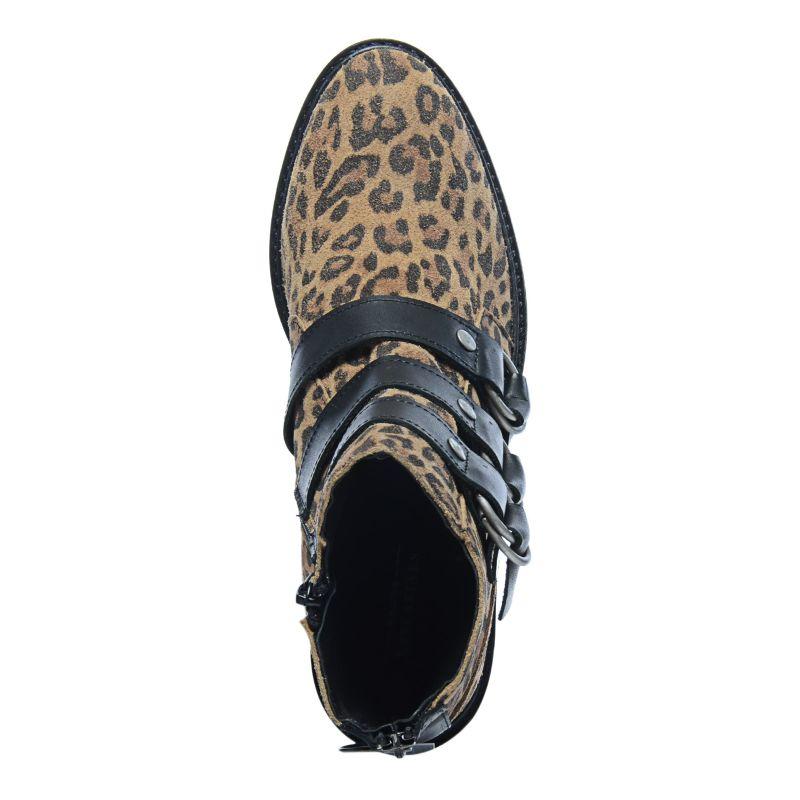 Panterprint buckle boots