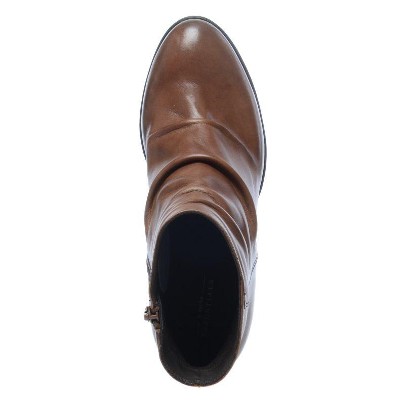 Cognac korte laarzen met hak