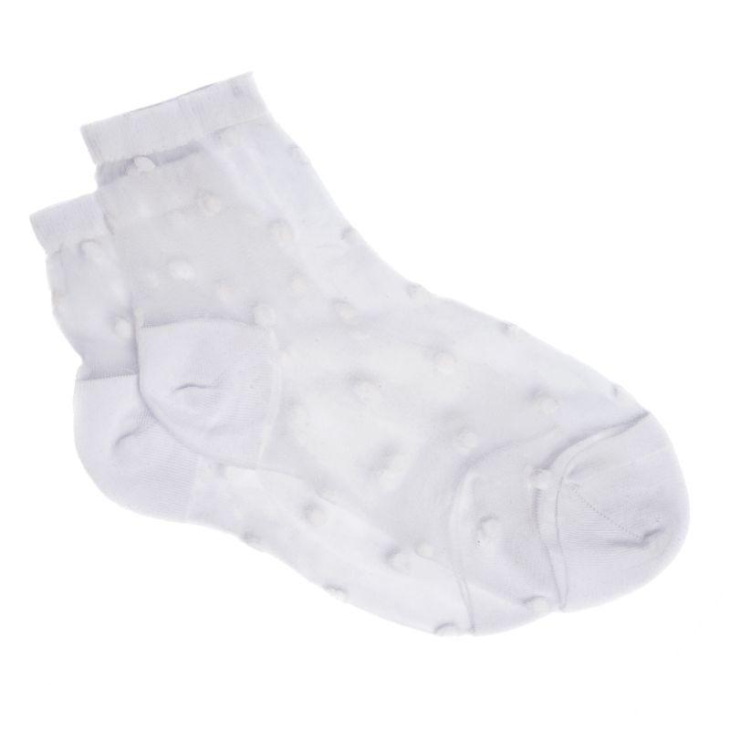 Sokken transparant met witte stipjes