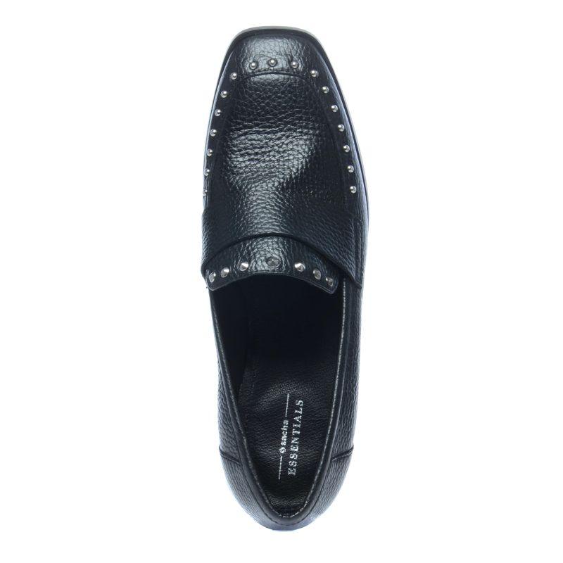 Loafers avec clous - noir