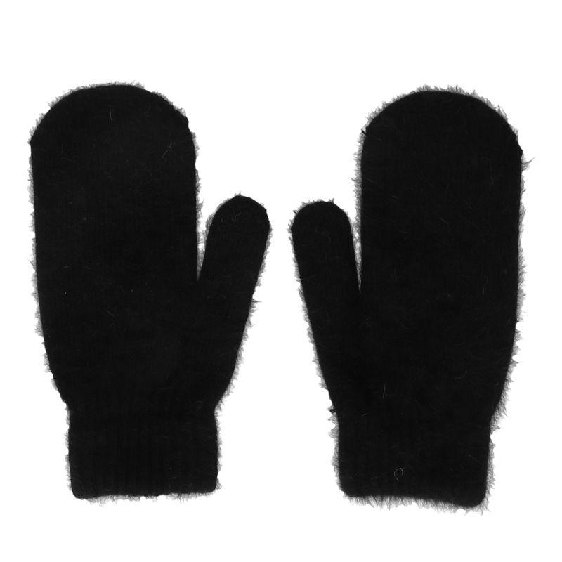 Zwarte fluffy wanten