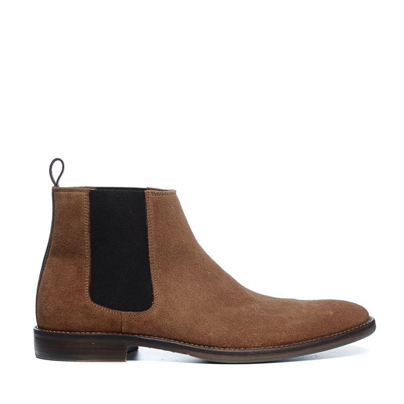 Camel suède chelsea boots
