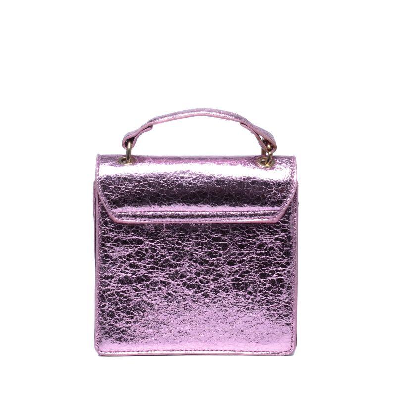 Roze metallic tasje
