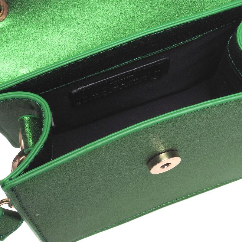 Groen metallic tasje met insecten