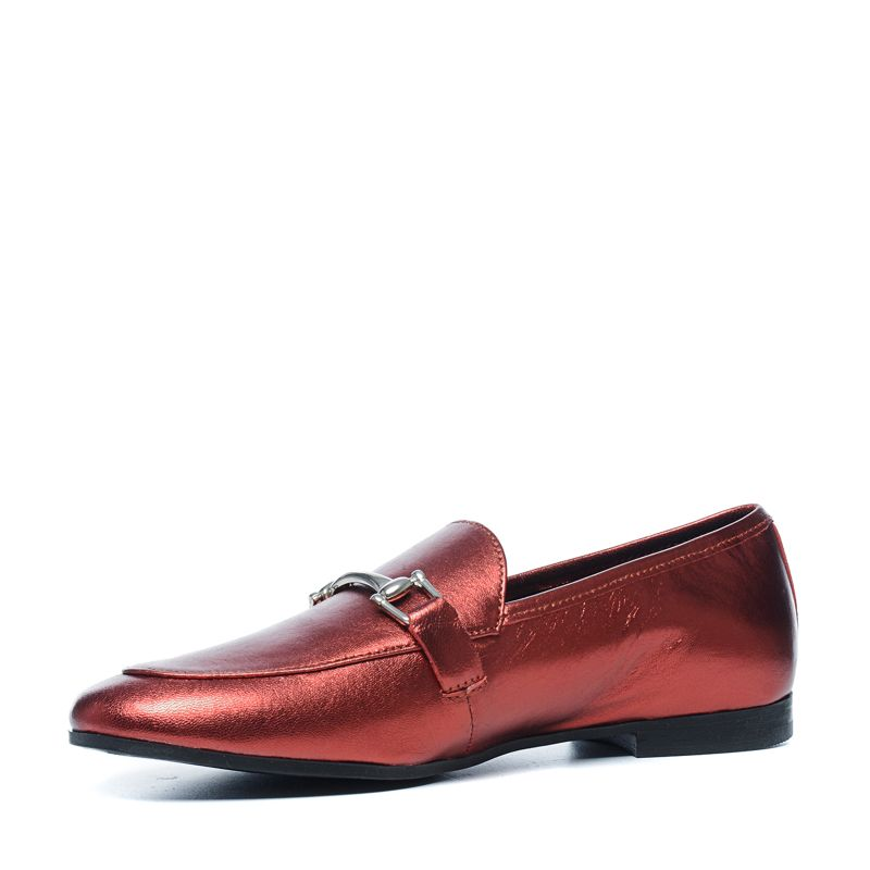 Rode metallic loafers