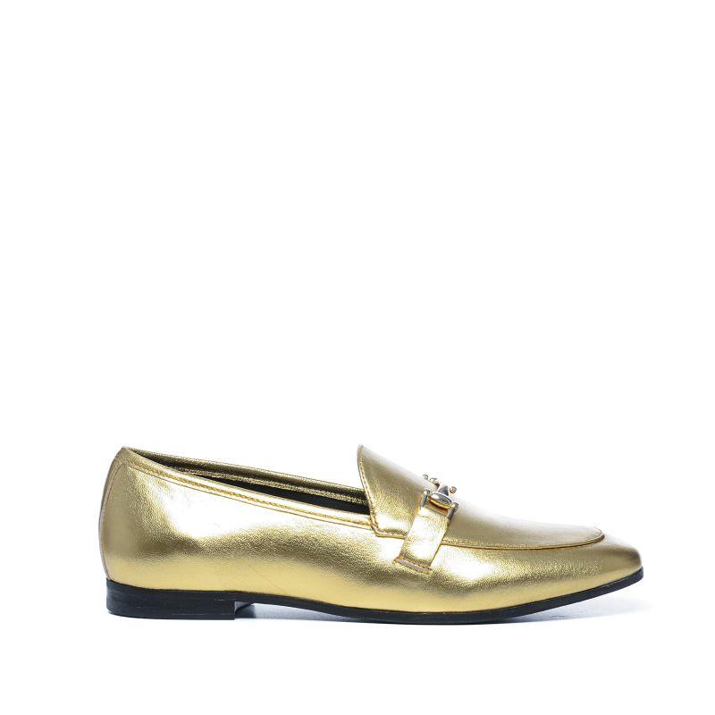 Goldene Metallic-Loafer
