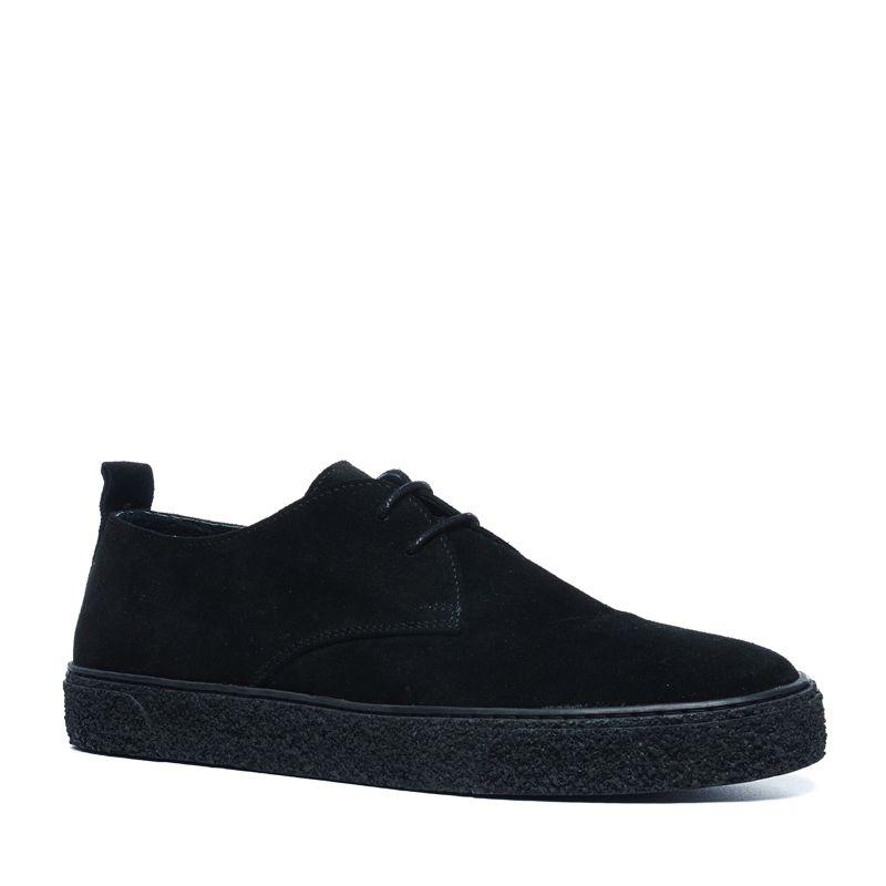 Zwarte suède lage sneakers