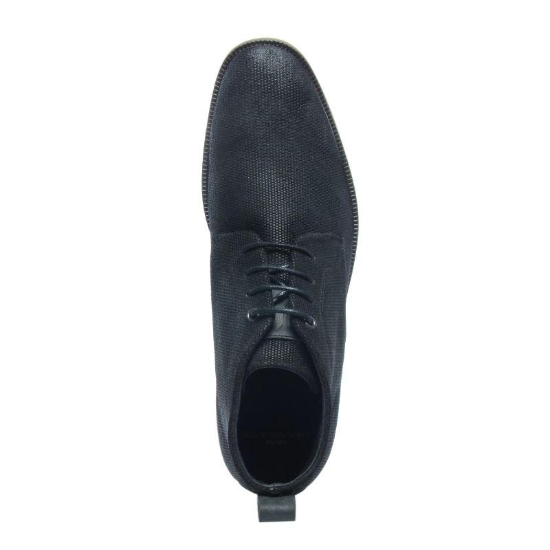 Zwarte veterschoenen met structuur