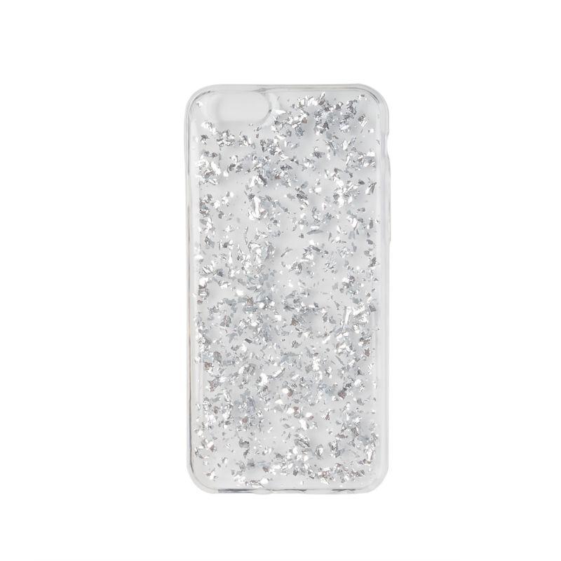 iPhone 6/6s-Hülle mit silbernem Glitzer