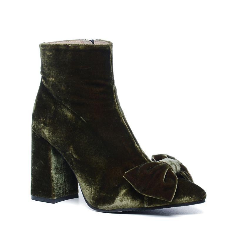Sacha x Fashionchick olijfgroene laarsjes met strik