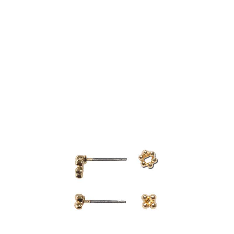 Goudkleurige dots oorbellen