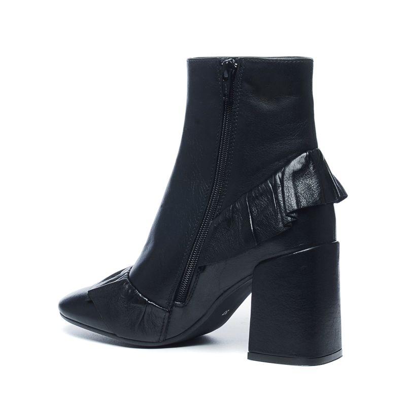 Sacha x Fashionchick bottines en cuir - noir
