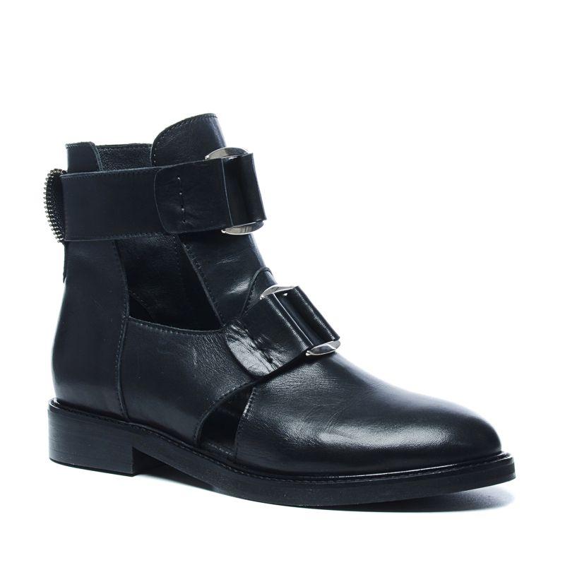 Schwarze Cut-out-Boots