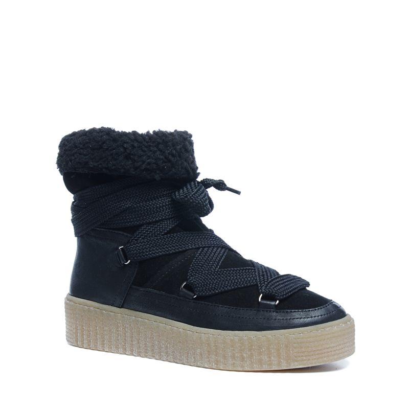 Zwarte boots met imitatiebont