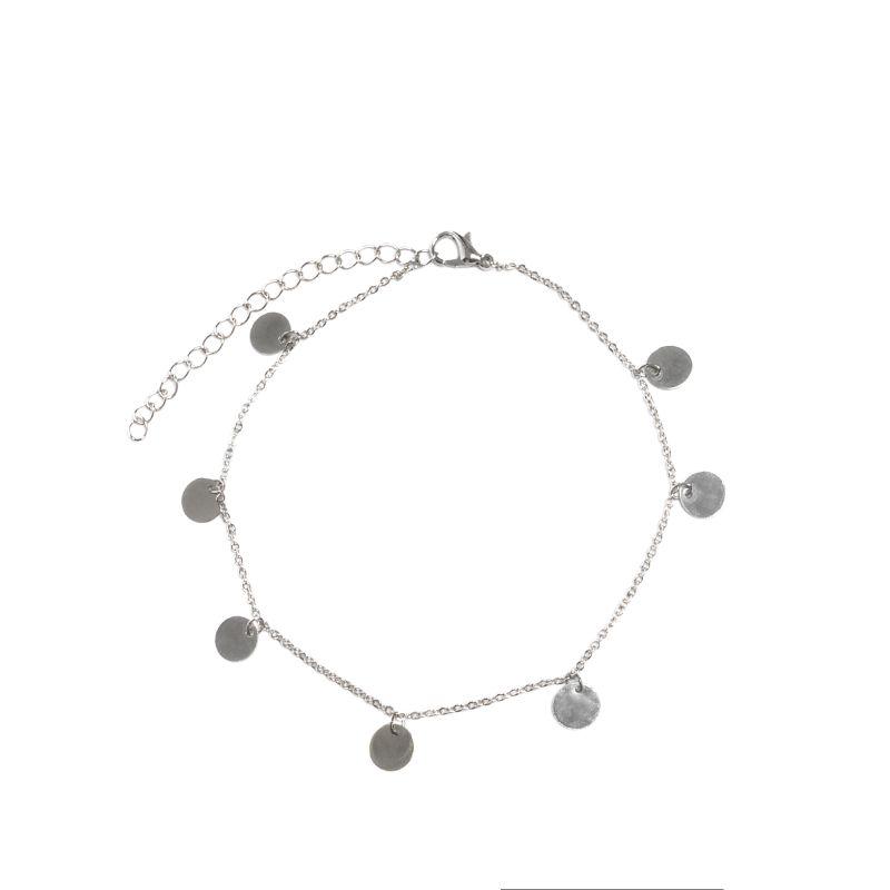 Zilveren enkelbandje hangertjes