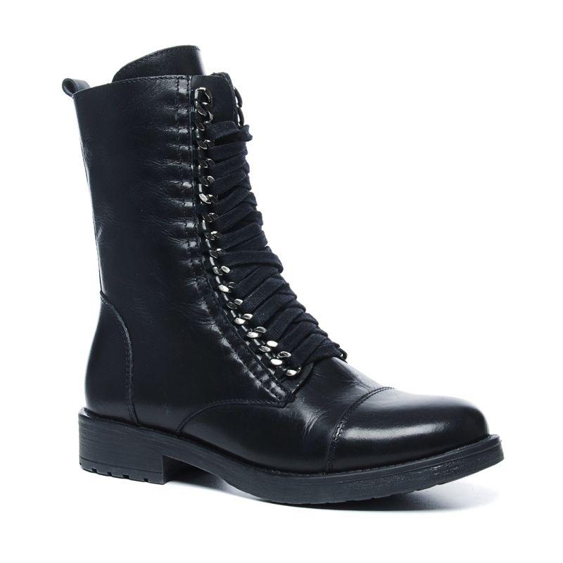 Sacha x Fashionchick zwarte veterlaarzen