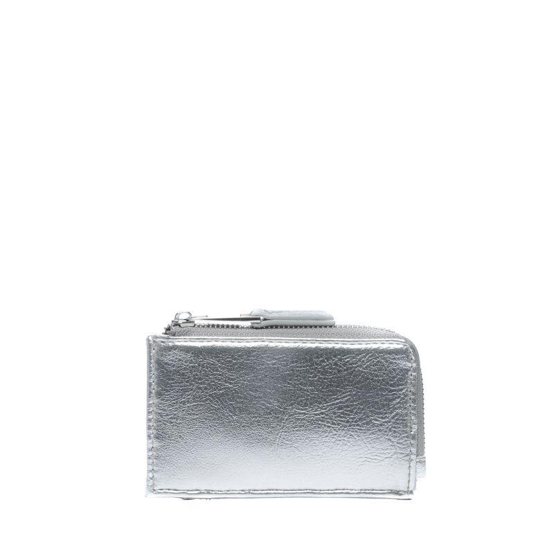 Metallic zilveren portemonnee