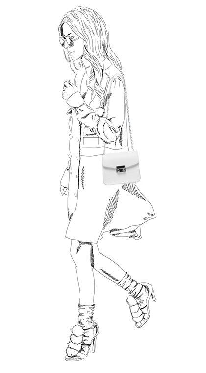 Witte schoudertas