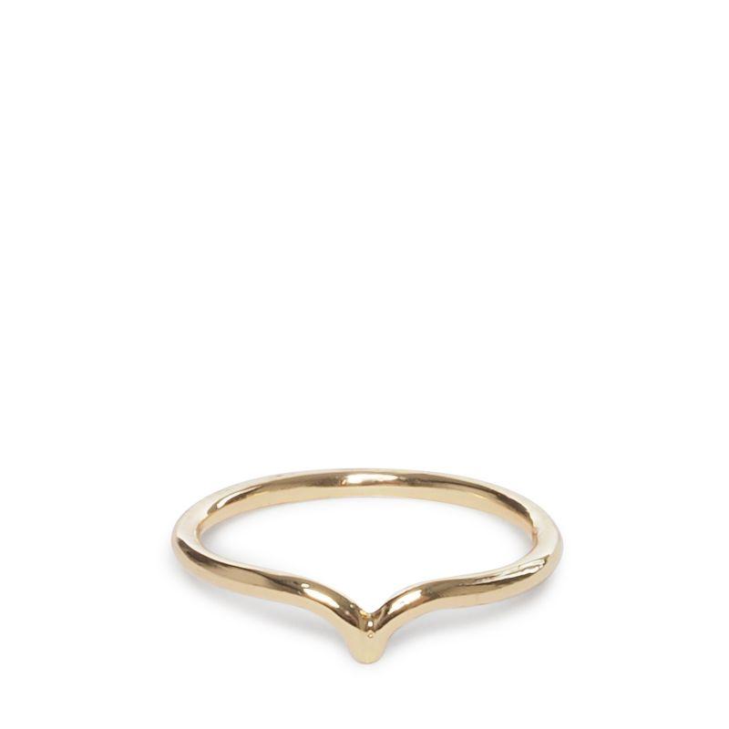 Goudkleurige ring met kleine hoek