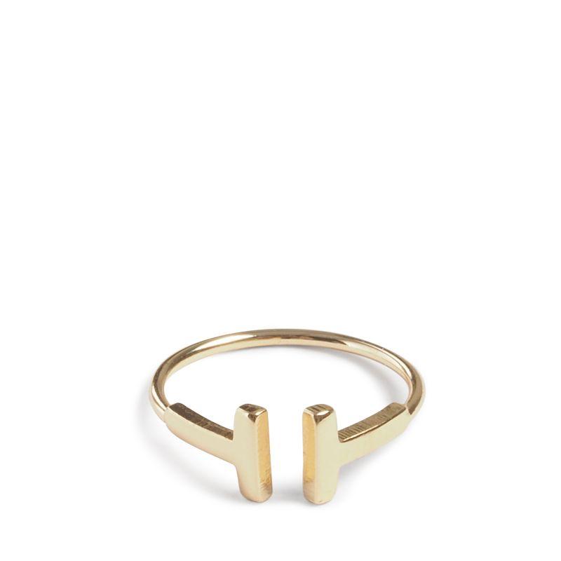 Goudkleurige ring met detail