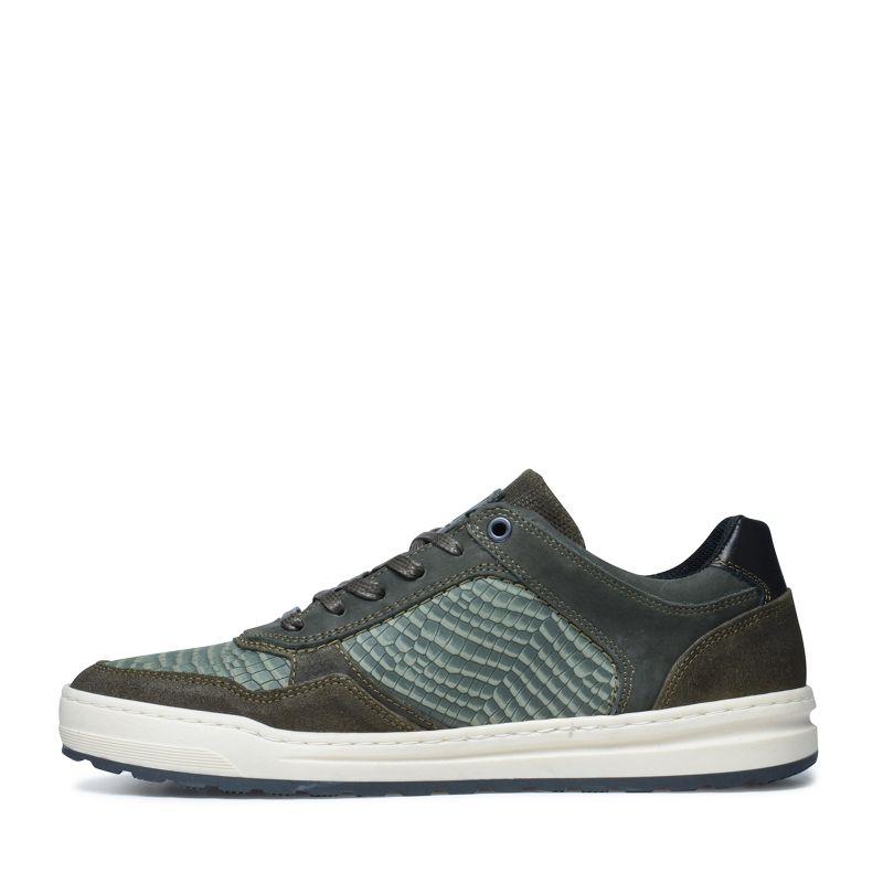 Groene sneakers met kroko motief