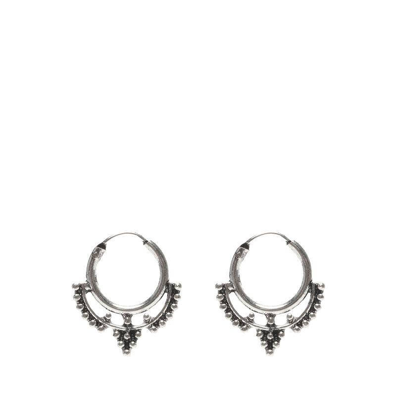 Zilverkleurgie ringetjes met detail en dots