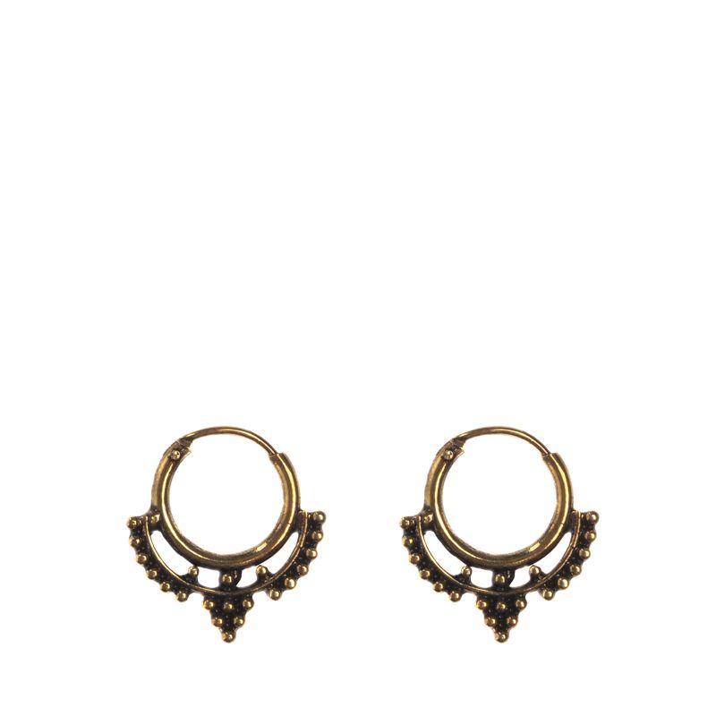 Goudkleurige ringetjes met detail