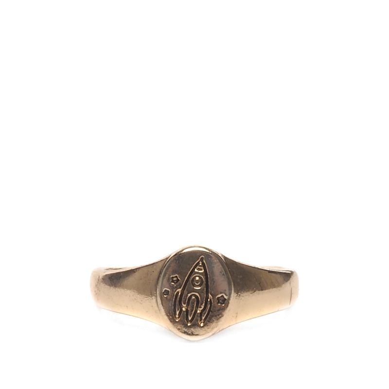 Gouden ring met raket