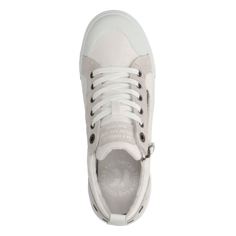 Yellow Cab Strife Y22082 witte lage sneakers