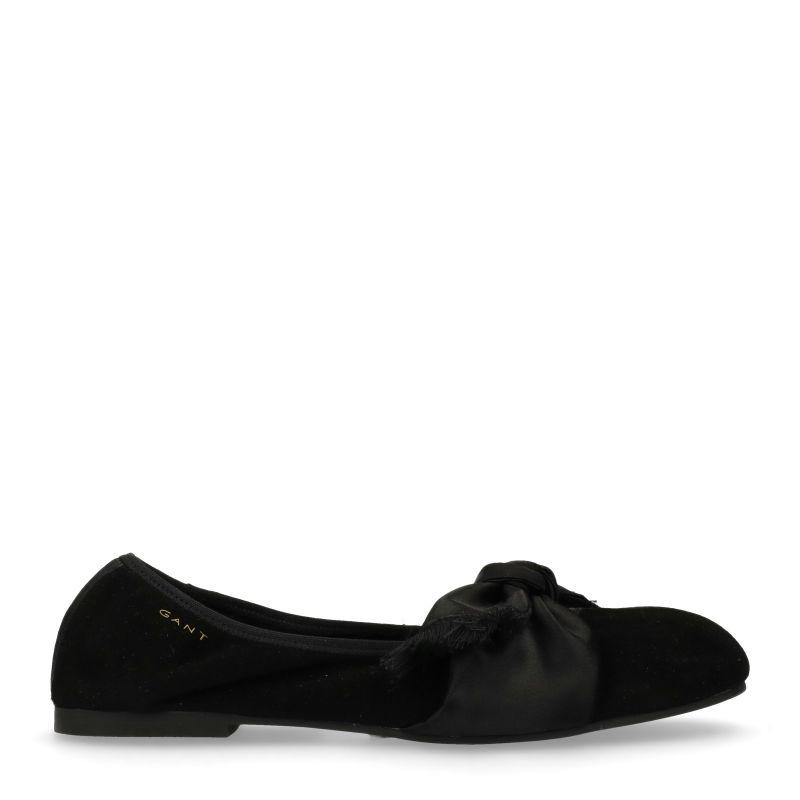 GANT Molly zwarte ballerina's met strik