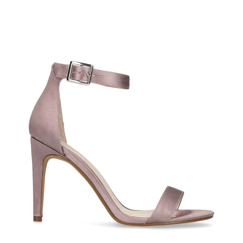 Lila pumps satijn