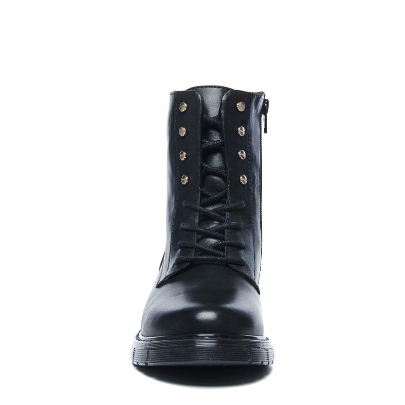 Zwarte biker boots met goudkleurige details