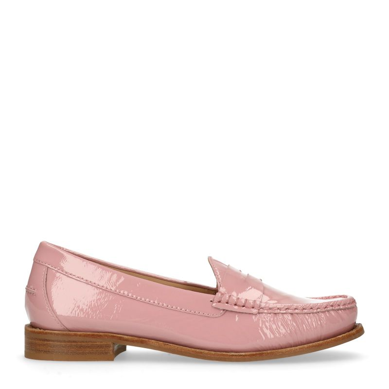 Lakleren roze loafers