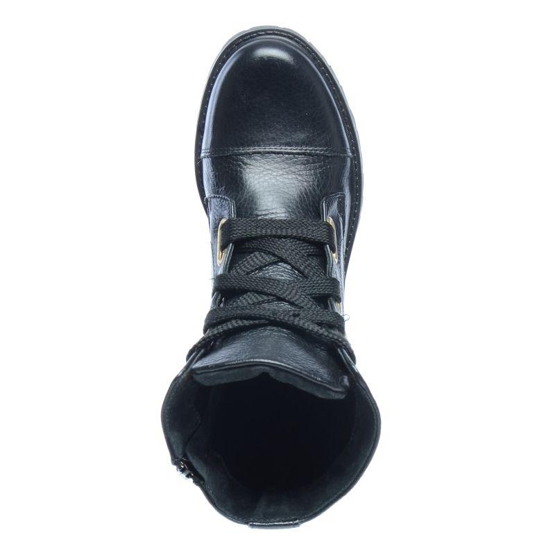 Zwarte laarzen met veters
