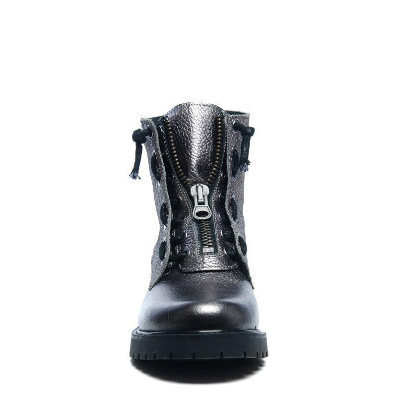 Zilveren biker boots